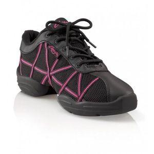 Capezio Web Dance Trainer Shoes Black/Pink 7